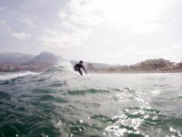 En las olas