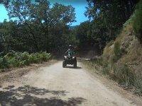 Probando la conduccion sobre el quad