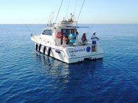 Fishing from a boat in Tarragona