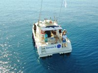 Fishing from Cambrils as a family