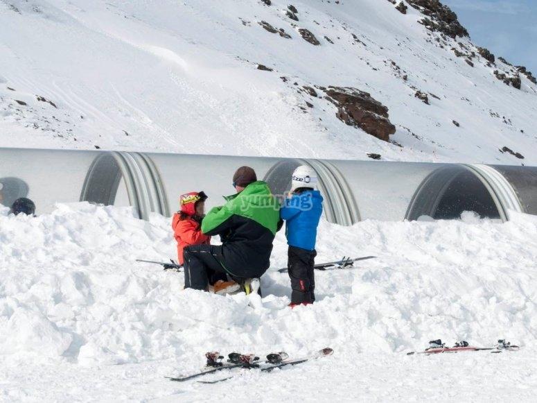 Los peques en la nieve