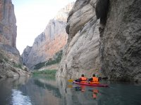 Kayak and canoe in calm waters