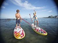 Paddle surfing in Carnota