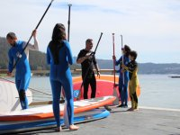 Paddle surfing in Muros