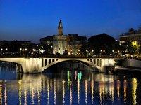 The Torre del Oro and the Triana Bridge
