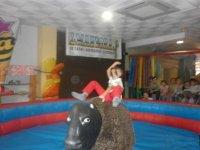 In the mechanical bull