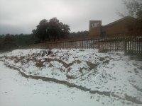 Albergue de Llanera nevado