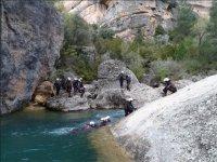 Discesa del canyon d'acqua, diversi livelli