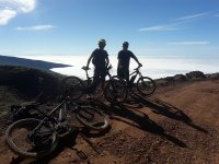 Cycling over the clouds of the island
