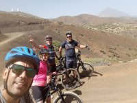 Guiding the group of cyclists in Tenerife