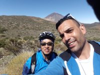 Visiting the Teide by bike