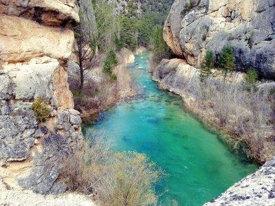 Discesa del torrente secco in Alto Tajo Cuenca