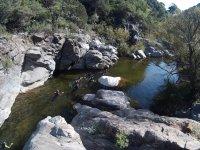 Nadando hasta pasar al siguiente tramo