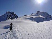 Recorrido en esqui de travesia