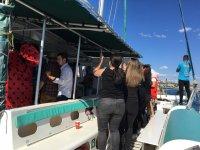 Bailando en el barco en Malaga