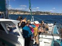 Fiesta en barco con animacion Costa del Sol