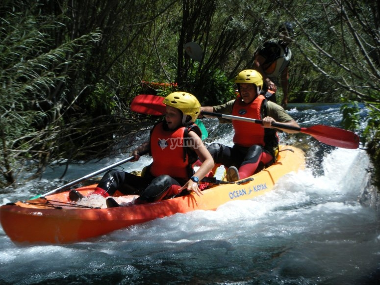 Crossing down the rapids
