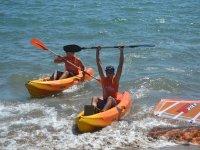 Giornata in kayak con gli amici