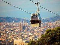 Teleferico about Barcelona