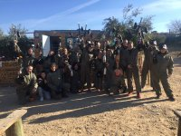Grupo de paintball en el campo de Madrid