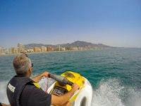 Con la moto nautica en Fuengirola