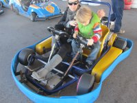 Nino con karting