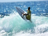 Surfeando en Maspalomas
