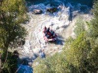 Balsa de rafting desde las alturas
