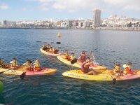 Excursion infantil en kayak