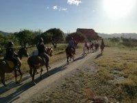 Ruta a caballo económica en Collserola 1h