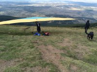Hang glider on the hill