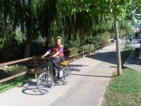 Paseo en bici en Sant Celoni