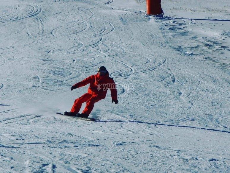 Sesión de snowboard en La Molina