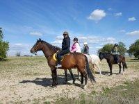 Outdoor horse riding excursion