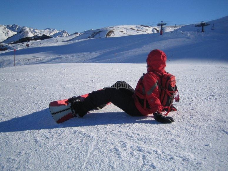 snowboarding class