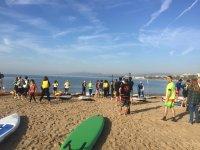 Lezione di paddle surf a Tarragona