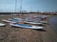 Sup tavoli sulla spiaggia di Salou
