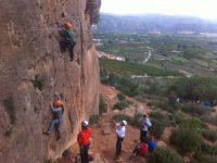 Group climbing baptism in Valencia