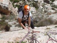 阿利坎特引导登山导游的Ifach,阿利坎特经典攀岩。