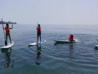 Paddle Surfing in the Cabrera de Mar yacht club