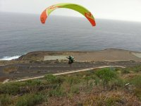 Paragliding nearby the sea