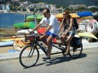 出租双人自行车