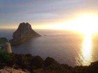 Preciosa vista de Ibiza