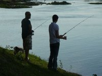 pesca en familia