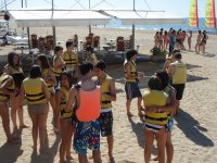 Our students on the beach of Cambrils