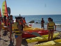 Before starting the kayak trip