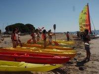 Kayaking routes along the Costa Dorada