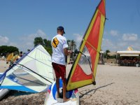 Windsurfing on the beach of Cambrils