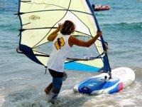 board and sail at sea