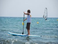 Paddle surf on the beach of Cambrils